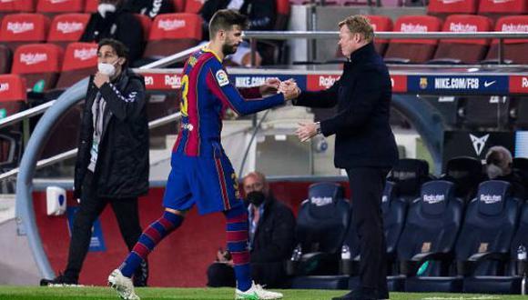 Koeman decidirá si Piqué arranca o no en el once titular del Barcelona en la final de la Copa del Rey. (Foto: Getty Images)