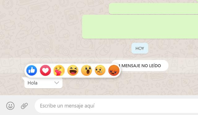 This is how Facebook responses appear on WhatsApp Web.  (Photo: Mag)