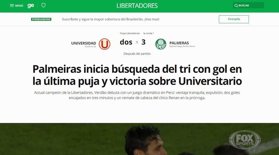 Globo Esporte. (Captura)