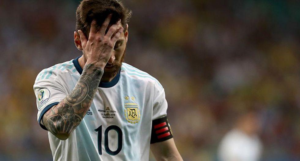 El sentido mensaje de Lionel Messi tras la derrota de Argentina su debut por Copa América. (Getty Images)