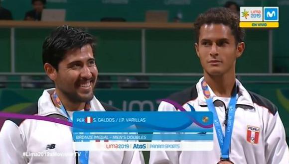 La emotiva premiación a Sergio Galdos y Juan Pablo Varillas por tercer lugar en Juegos Panamericanos Lima 2019
