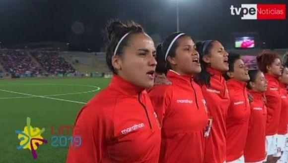 Perú vs. Argentina | Así se entonó el Himno Nacional. (Captura)