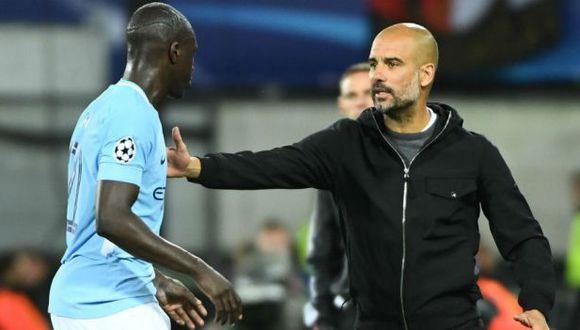 Pep Guardiola y la llamada de atención a Benjamin Mendy. (Foto: AFP)