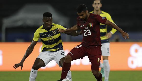 Venezuela y Ecuador igualaron 2 a 2 por el Grupo B de la Copa América 2021. (Foto: AP)
