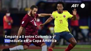 Copa América: Colombia y Venezuela empatan 0-0 por el Grupo B