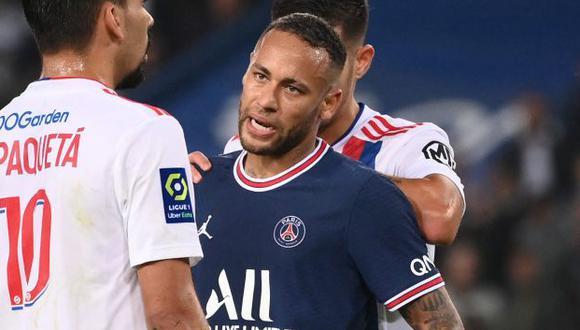 Neymar anotó el gol del 1-1 en el PSG vs. Lyon por Ligue 1. (Foto: AFP)