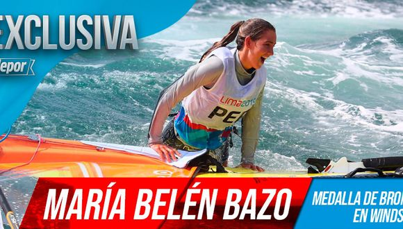 Maria Belén Bazo es una de las tres deportistas que ha ganado medalla para en Perú en vela. (Diseño: Christian Marlow)