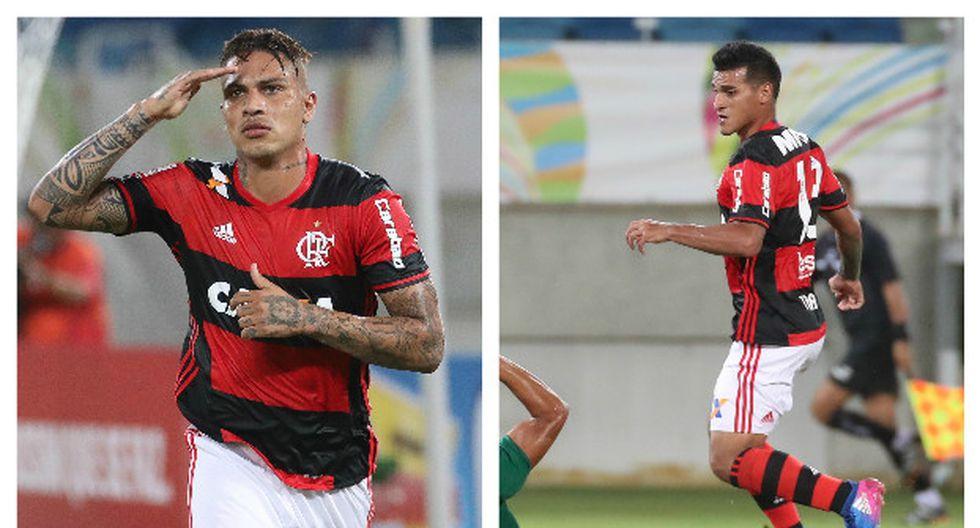Paolo Guerrero y Miguel Trauco tuvieron una gran actuación con el Flamengo.