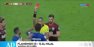 André Carrillo fue expulsado en la derrota de su equipo por el Mundial de Clubes