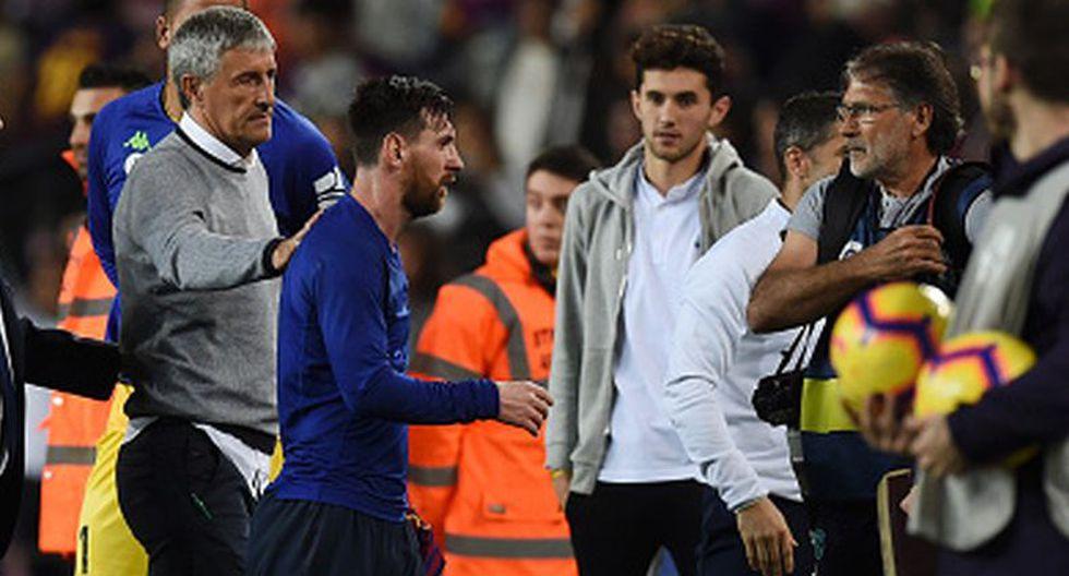 Quique Setién sufrió a Messi y ahora lo tendrá como principal figura. (Getty)