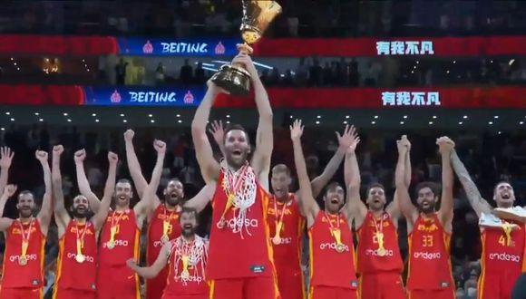 España ganó por segunda vez el Mundial de Básquet. (FIBA)