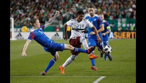 México goleó 3-0 a Islandia por amistoso internacional FIFA en California. (Getty Images)