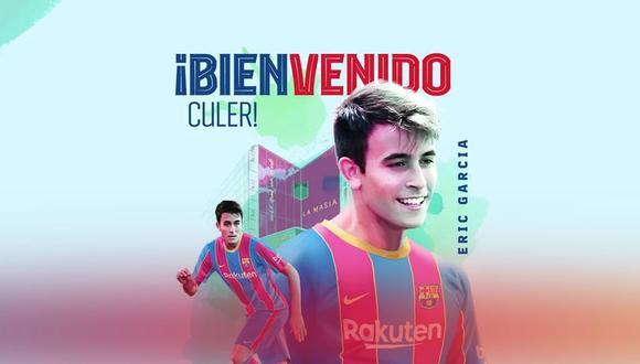 Eric García firmó con el Barcelona con una cláusula de 400 millones de euros. (Foto: FC Barcelona)