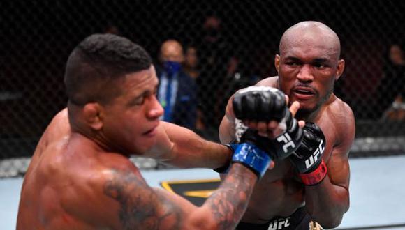 El emotivo mensaje de Kamaru Usman a Gilbert Burns tras derrotarlo en el UFC 258. (UFC)