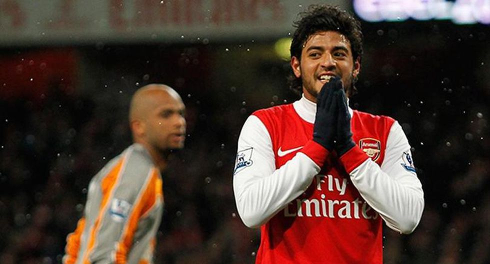 Carlos Vela en el Arsenal. (Foto: Getty)