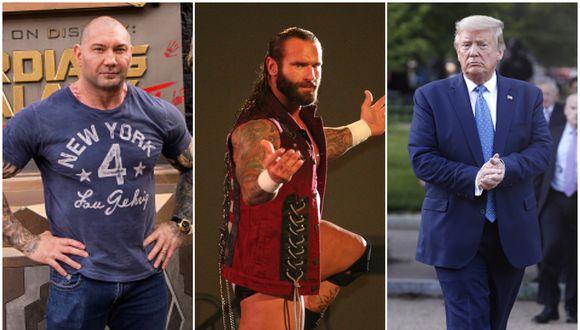 Batista, Ryker y el presidente Trump. (Foto: Getty Images / WWE)