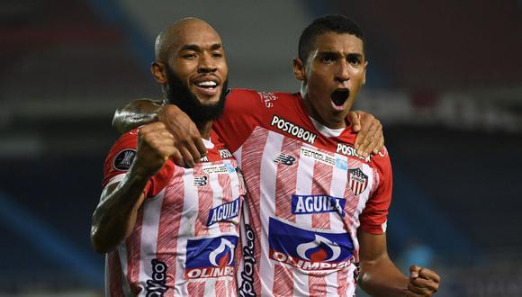 Junior goleó 3-0 a Bolívar y jugará la fase de grupos de la Copa Libertadores 2021. (Foto: AFP)