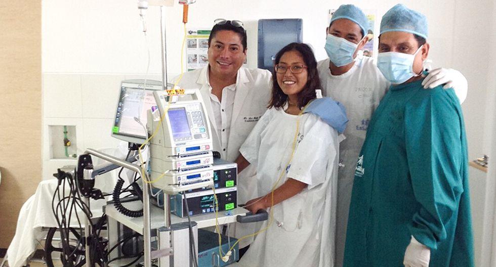 Cristina García pudo retomar sus estudios luego de su operación.