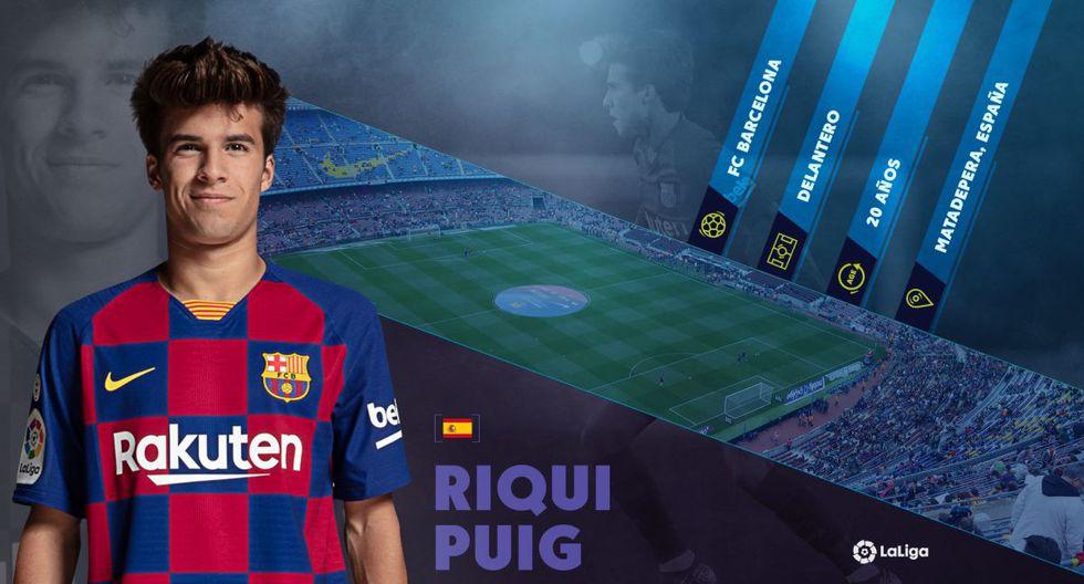 Riqui Puig, la joven promesa del Barcelona que da la hora en Camp Nou. (Foto: LaLiga)