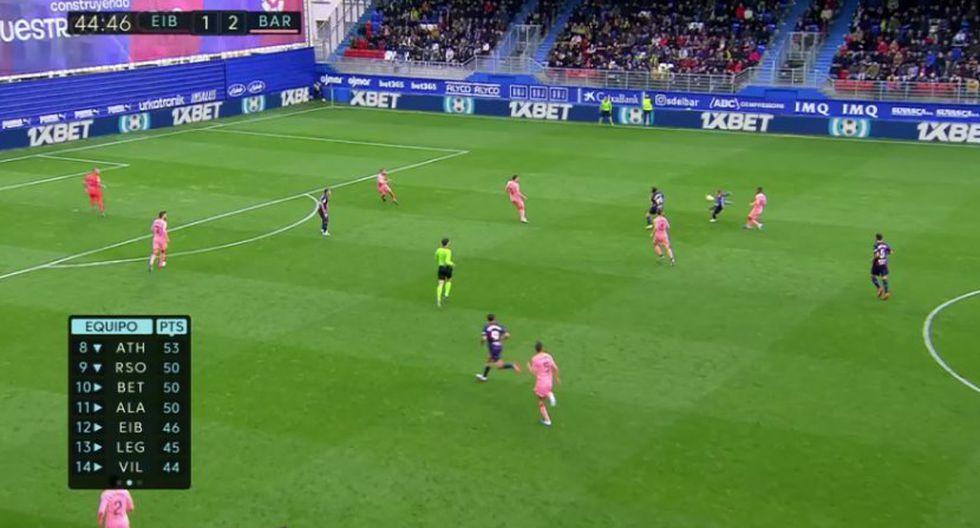 Jasper Cillessen provocó el empate para Eibar. (Captura y video: ESPN)