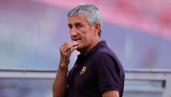 Quique Setién llegó al Barcelona apenas en enero de este año. (Foto: AFP)