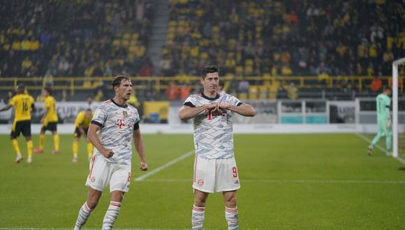 Robert Lewandowski marcó un doblete para el título del Bayern Munich en la Supercopa de Alemania. (Foto: Agencias)