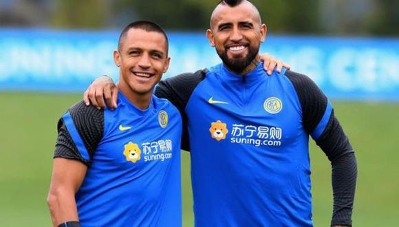 Alexis Sánchez y Arturo Vidal estarían aislados al ser un posible caso por coronavirus. (Foto: Inter de Milán)
