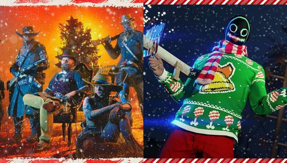 GTA V Online y Red Dead Online reciben actualizaciones de Navidad. (Foto: Rockstar Games)