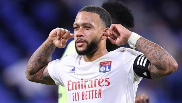 Memphis Depay acaba contrato con el Lyon y no renovará. (Foto: EFE)