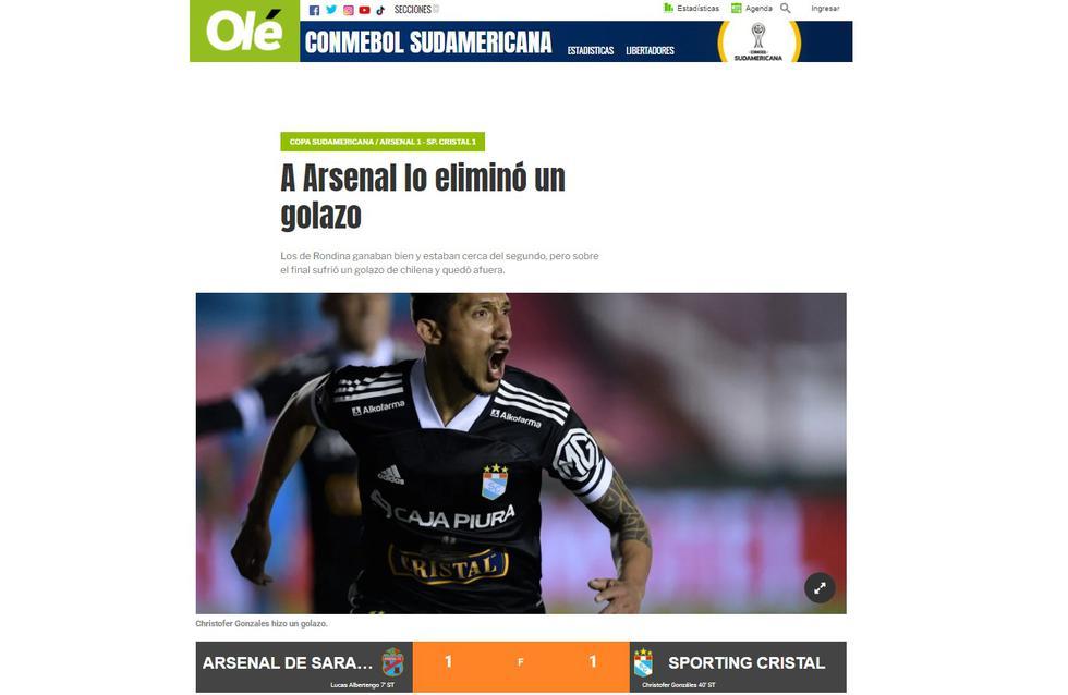 Olé (ole.com.ar) | Foto: Captura.