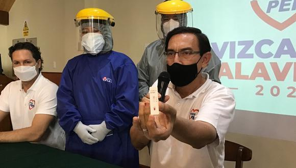 Martín Vizcarra figura en la lista de los 487 vacunados por las dosis de Sinopharm. (Foto: Ernesto Suárez/ colaborador de El Comercio)