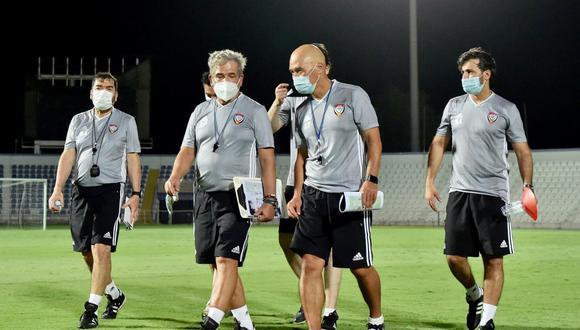 Jerry Tamashiro es asistente de Jorge Luis Pinto, en la selección de Emiratos Árabes (Foto: difusión).