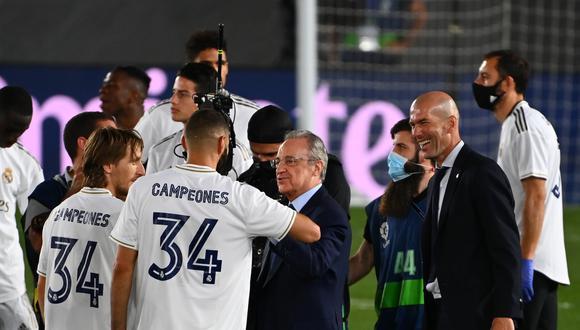 Real Madrid es el vigente campeón de LaLiga Santander 2020. (AFP)