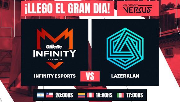 VALORANT: Infinity Esports vs. Lazer Klan EN VIVO, Gran Final de VALORANT Versus. (Foto: Difusión)