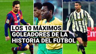 Cristiano Ronaldo y los 10 máximos goleadores de toda la historia del fútbol