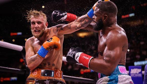 Jake Paul derrotó a Tyron Woodley, excampeón de UFC, en polémico combate de boxeo por decisión dividida. (Showtimeboxing)