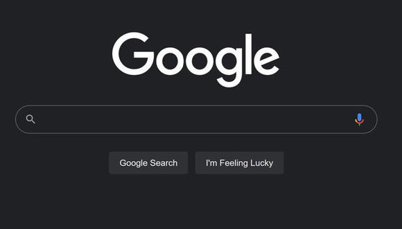Google: cómo activar el modo oscuro en el buscador web. (Foto: captura)