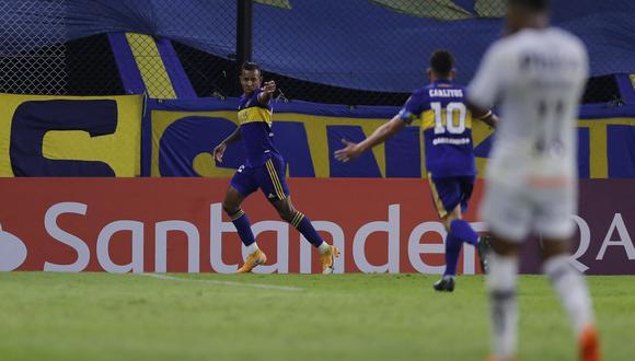 Sebastián Villa selló el triunfo de Boca Juniors. (Foto: Conmebol)