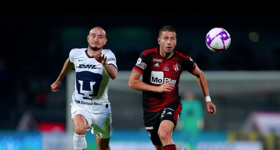 Pumas aplastó a Atlas en el Olímpico por fecha 16 del Apertura 2019 Liga MX.