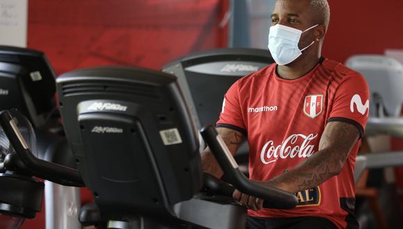 Jefferson Farfán realizó trabajos en el gimnasio (Foto: Selección Peruana)