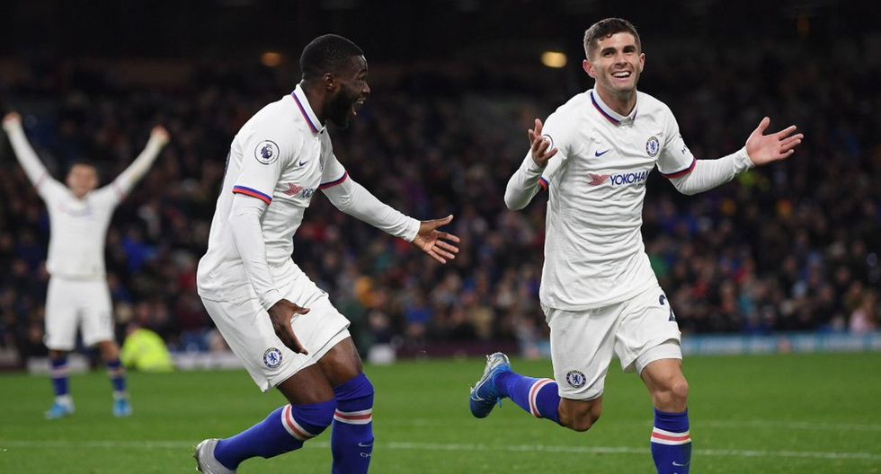 Christian Pulisic anotó tres goles en la victoria 4-2 del Chelsea sobre Burnley por la Premier League 2019-20. (Getty Images)