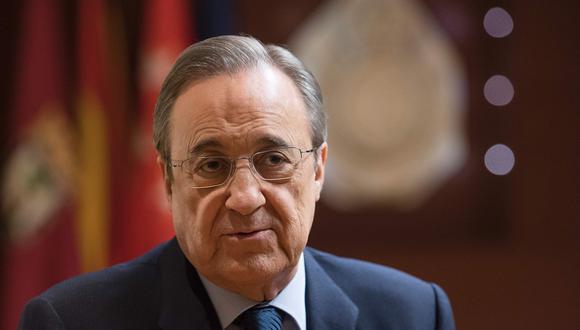 'El Confidencial' reveló audios de Florentino Pérez en los que critica a exjugadores del club. (Foto: AFP)