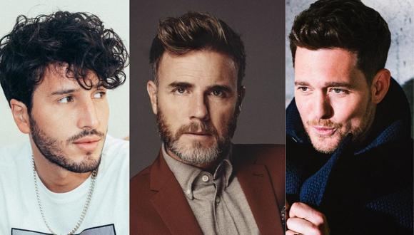 """Sebastián Yatra, Michael Bublé y Gary Barlow unieron sus voces para el estreno del tema """"Elita"""". (Foto: @sebastianyatra/@officialgarybarlow/@michaelbuble)"""