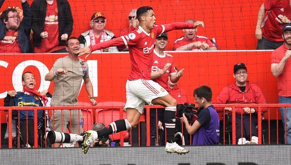 Cristiano Ronaldo marcó dos goles en su regreso al Manchester United. (Foto: AFP)