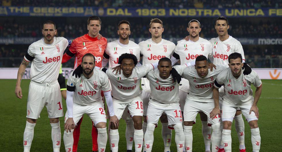 Juventus de Turín con 23 Jugadores en el plantel cuesta 823.92 Millones de dólares (Foto: AFP)