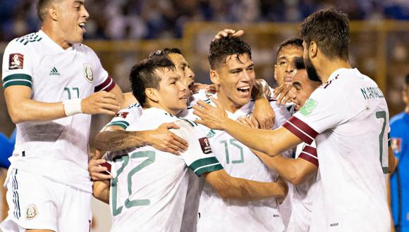 México vs. El Salvador se vieron las caras este miércoles por la jornada 6 de las Eliminatorias a Qatar 2022 (Foto: @miseleccionmx).
