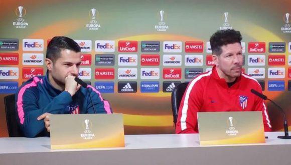 Diego Simeone dio conferencia en la previa de la Europa League. (Foto: Agencias)