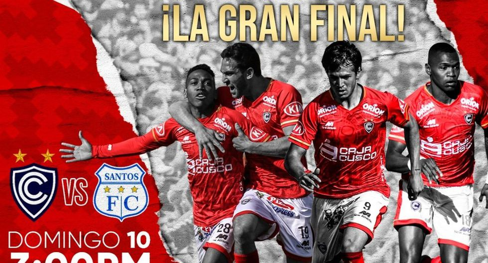 Cienciano vs. Santos FC irá por Movistar Deportes. (Diseño: Club Cienciano)