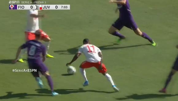 La lesión de Douglas Costa iniciando el partido de Juventus. (Captura y video: ESPN - YouTube)