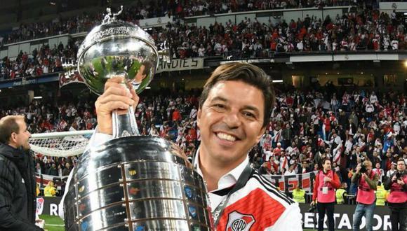Marcelo Gallardo ha conquistado dos Copas Sudamericanas y dos Copas Libertadores como DT de River. (Foto: AFP)